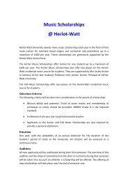 Music Scholarships @ Heriot-Watt - Heriot-Watt University