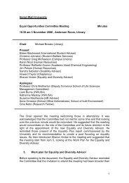 EOC Minutes 3 November 2006 - Heriot-Watt University