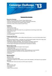 Business Plan Template Executive Summary Company Product and ...