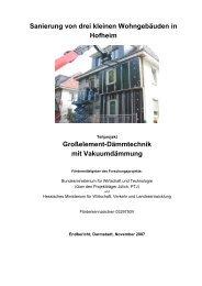 Großelement-Dämmtechnik mit Vakuumdämmung - Institut Wohnen ...