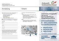 Zukunft Gebäudebestand - Hofheimer Wohnungsbau GmbH