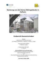 Sanierung von drei kleinen Wohngebäuden in Hofheim Endbericht ...