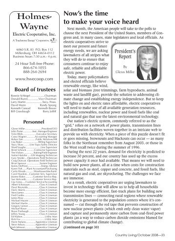October 2008.pdf - Holmes-Wayne Electric Cooperative, Inc.