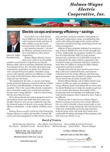 February 2013.pdf - Holmes-Wayne Electric Cooperative, Inc.