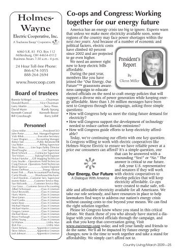 March 2009.pdf - Holmes-Wayne Electric Cooperative, Inc.