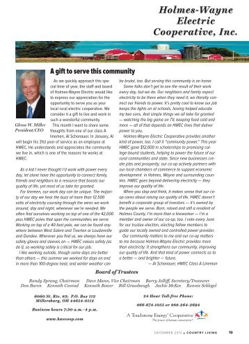 December 2012.pdf - Holmes-Wayne Electric Cooperative, Inc.