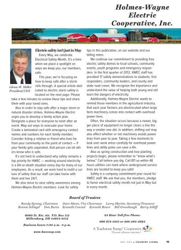 May 2012.pdf - Holmes-Wayne Electric Cooperative, Inc.