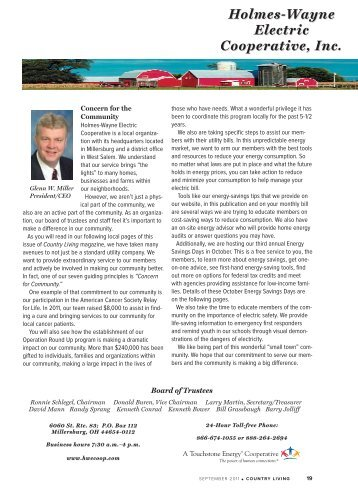 September 2011.pdf - Holmes-Wayne Electric Cooperative, Inc.