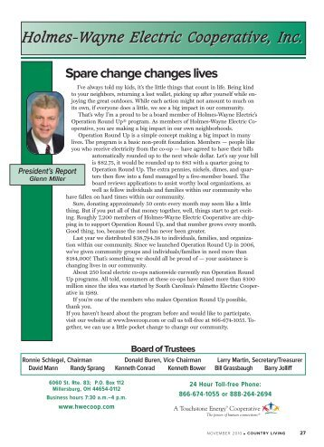 November 2010.pdf - Holmes-Wayne Electric Cooperative, Inc.