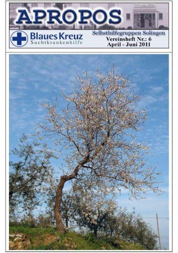 6. Ausgabe - Seite des Blauen Kreuzes