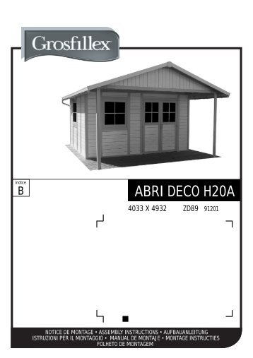 ABRI DECO H20A - Grosfillex Garden Home