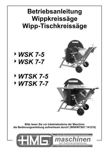 Betriebsanleitung - HWG-Tec