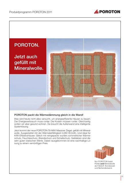 Produkt- programm POROTON 2011 - EnEV-Service