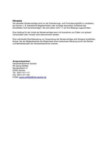 Arbeitsvertrag Ohne Tarifbindung Fur Betriebsleiter 9