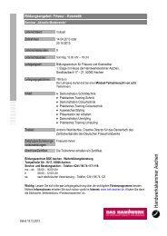 Aktuelle Modetrends - Termine 2013 - Handwerkskammer Aachen