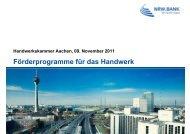 Förderprogramme für das Handwerk - Handwerkskammer Aachen