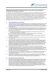 Richtlinien über die Begabtenförderung berufliche Bildung