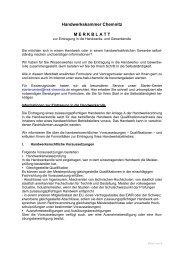 Merkblatt zur Eintragung in die Handwerks- und Gewerberolle