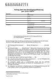 Vertrag über eine Einstiegsqualifizierung