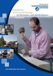 Meistervorbereitung im Steinmetz- und Steinbildhauer-Handwerk