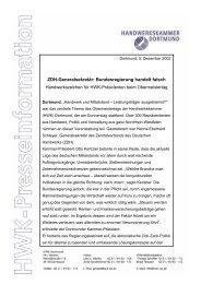 ZDH-Generalsekretär: Bundesregierung handelt falsch