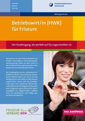 Flyer Betriebswirt für Friseure - Handwerkskammer Dortmund