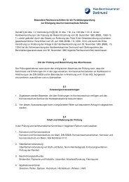 Besondere Rechtsvorschriften für die Fortbildungsprüfung zur ...