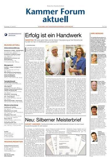 Erfolg ist ein Handwerk - Handwerkskammer Dortmund