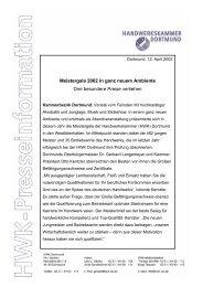 Meistergala 2002 in ganz neuem Ambiente Drei besondere Preise ...