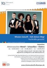 Aktionswochen Metall – Schweißen – Elektro Mission Zukunft – Geh ...