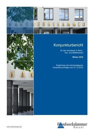 Konjunkturbericht 4. Quartal 2010 - Handwerkskammer Kassel