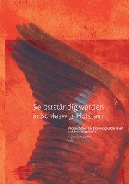 Existenzgründerleitfaden Schleswig-Holstein 2013 - Bundesagentur ...