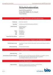 Sicherheitsdatenblatt EK 78 - Bito AG
