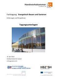 Tagungsunterlagen - der Handwerkskammer Lübeck