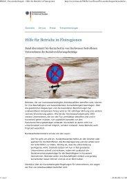 BMAS - Pressemitteilungen - Hilfe für Betriebe in Flutregionen