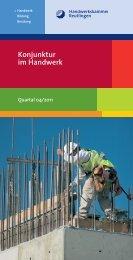 Konjunkturbericht 4/2011 - Handwerkskammer Reutlingen