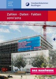 Zahlen · Daten · Fakten 2011/2012 - Handwerkskammer Reutlingen