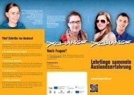 Lehrlinge sammeln Auslandserfahrung - Flyer für Auszubildende ...