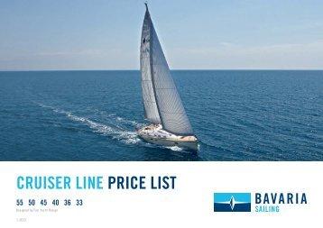 Price List 2013- Bavaria Cruiser 33   36 - Cosmos Yachting