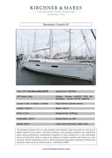 Beneteau Oceanis 45 Www Kirchner Mares Com Boat Net
