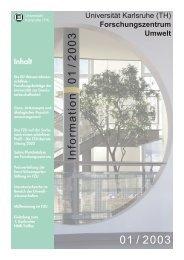 FZU Information 1/2003 - Universität Karlsruhe - Forschungszentrum ...