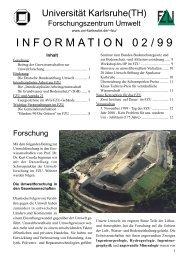 FZU Information 2/1999 - Universität Karlsruhe - Forschungszentrum ...
