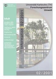 FZU Information 2/2001 - Universität Karlsruhe - Forschungszentrum ...