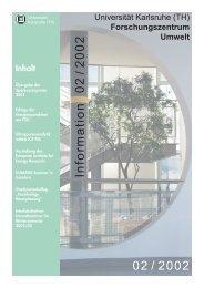 FZU Information 2/2002 - Universität Karlsruhe - Forschungszentrum ...