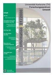 FZU Information 1/2000 - Universität Karlsruhe - Forschungszentrum ...