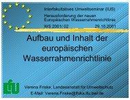 Aufbau und Inhalt der europäischen Wasserrahmenrichtlinie