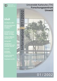 FZU Information 1/2002 - Universität Karlsruhe - Forschungszentrum ...