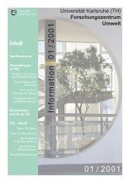 FZU Information 1/2001 - Universität Karlsruhe - Forschungszentrum ...
