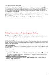 Wichtige Voraussetzungen für die erfolgreiche Montage - Closomat