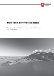 Bau- und Zonenreglement - Gemeinde Weggis